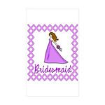 Lilac Bridesmaid Rectangle Sticker 10 pk)