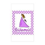 Lilac Bridesmaid Rectangle Sticker