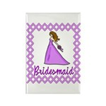 Lilac Bridesmaid Rectangle Magnet (10 pack)