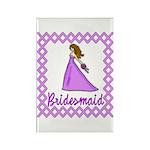 Lilac Bridesmaid Rectangle Magnet