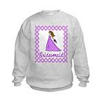 Lilac Bridesmaid Kids Sweatshirt