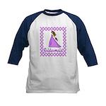 Lilac Bridesmaid Kids Baseball Jersey