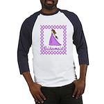 Lilac Bridesmaid Baseball Jersey