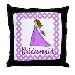 Lilac Bridesmaid Throw Pillow