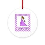 Lilac Bridesmaid Ornament (Round)