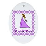 Lilac Bridesmaid Oval Ornament