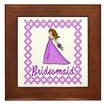 Lilac Bridesmaid Framed Tile