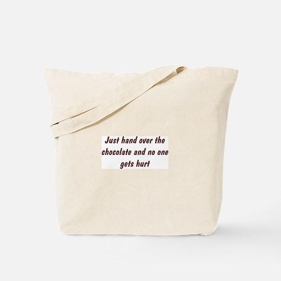 Hand Over Chocolate Tote Bag