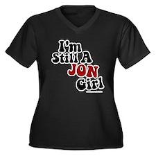 New Kid Jon Women's Plus Size V-Neck Dark T-Shirt