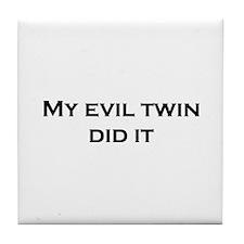 Evil Twin Tile Coaster