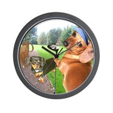 Golf Dogs Wall Clock