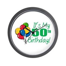 It's My 50th Birthday (Balloons) Wall Clock