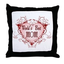 World's Best Mom Mothers Day Throw Pillow