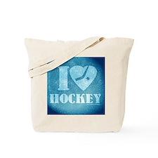 Teal ice Hockey Tote Bag
