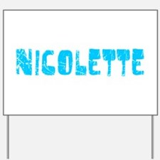 Nicolette Faded (Blue) Yard Sign