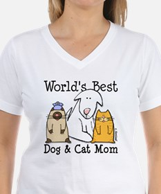 World's Best Dog & Cat Mom Shirt