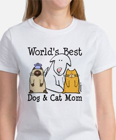 World's Best Dog & Cat Mom Tee