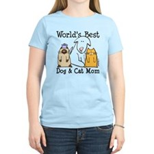 World's Best Dog & Cat Mom T-Shirt