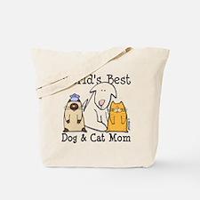 World's Best Dog & Cat Mom Tote Bag