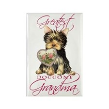 Yorkie Grandma Rectangle Magnet