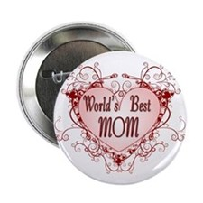 World's Best Mom Mothers Day Button (100 pack)