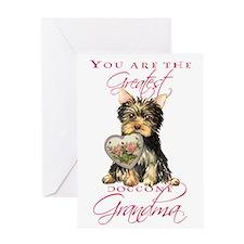 Yorkie Grandma Mother's Day Greeting Card