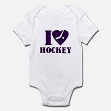I heart Hockey Infant Bodysuit