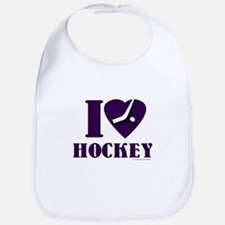I heart Hockey Bib
