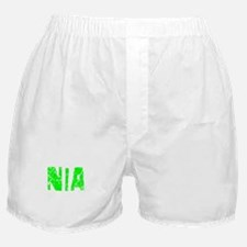 Nia Faded (Green) Boxer Shorts