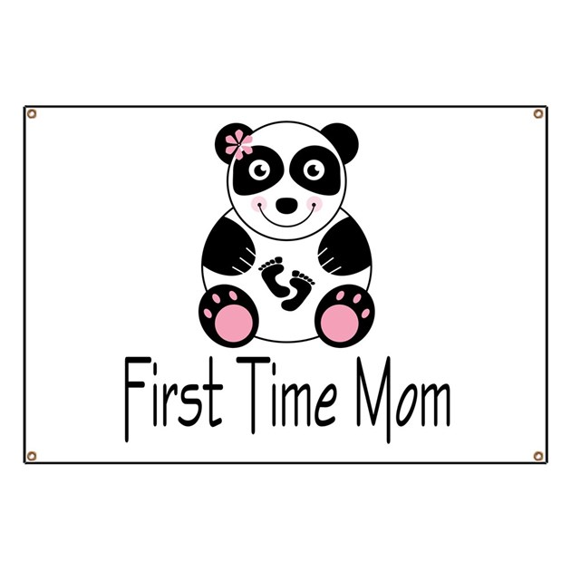 First Time Mom Banner By Mainstreetshirt