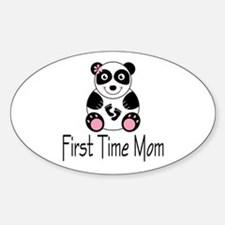 First Time Mom Oval Decal