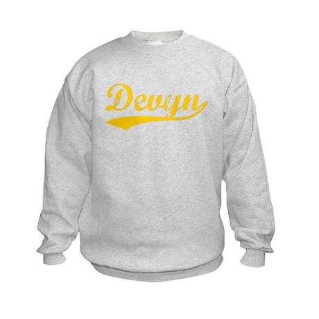 Vintage Devyn (Orange) Kids Sweatshirt