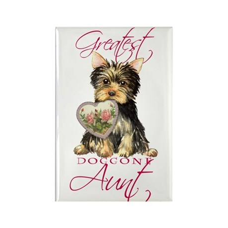 Yorkie Aunt Rectangle Magnet