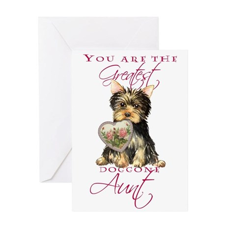 Yorkie I Love Aunt Greeting Card