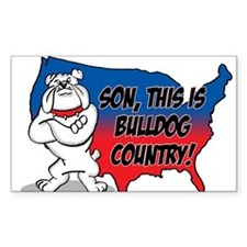 Bulldog Country Rectangle Decal