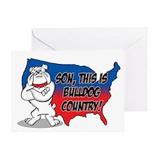Bulldog Country Greeting Card