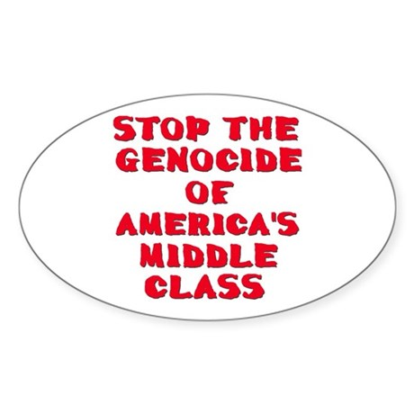 American Genocide Oval Sticker