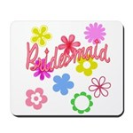 Colorful Floral Bridesmaid Mousepad