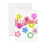 Colorful Floral Bridesmaid Greeting Cards (Pk of 1