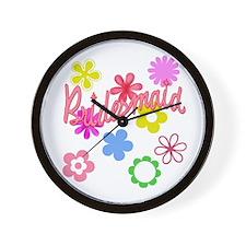 Colorful Floral Bridesmaid Wall Clock