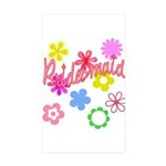 Colorful Floral Bridesmaid Rectangle Sticker 10 p
