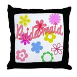 Colorful Floral Bridesmaid Throw Pillow