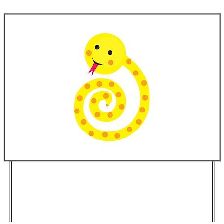 Gold Snake Yard Sign