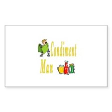 Condiment Man Rectangle Decal
