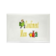 Condiment Man Rectangle Magnet