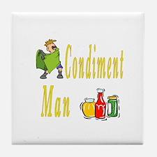 Condiment Man Tile Coaster