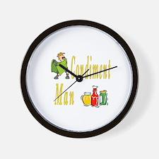 Condiment Man Wall Clock