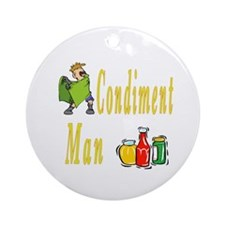 Condiment Man Ornament (Round)