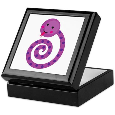 Purple Snake Keepsake Box