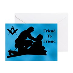 Masonic Friend to Friend Greeting Cards (Pk of 20)